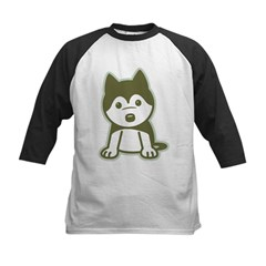 Husky Puppy Kids Baseball Jersey