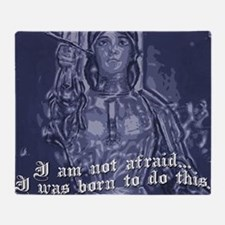 joanofarc_purple_Iamnotafraid.png Throw Blanket