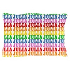 Rainbow Name Pattern Pillow Case