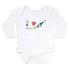 Cute Space Long Sleeve Infant Bodysuit