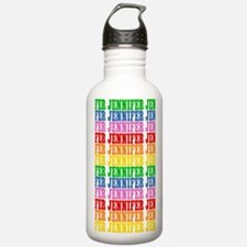 Rainbow Name Pattern Water Bottle