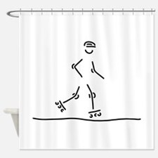plays skat inline skating of scoote Shower Curtain
