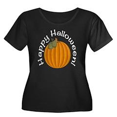 Happy Halloween! Plus Size Scoop Neck Dark Tee
