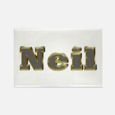 Neil Gold Diamond Bling Rectangle Magnet
