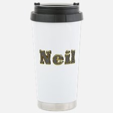 Neil Gold Diamond Bling Ceramic Travel Mug