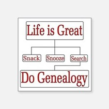 Do Genealogy Chart Sticker