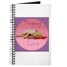 Golden Retriever Puppy Love (Circle) Journal