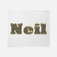 Neil Gold Diamond Bling Throw Blanket