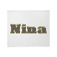 Nina Gold Diamond Bling Throw Blanket
