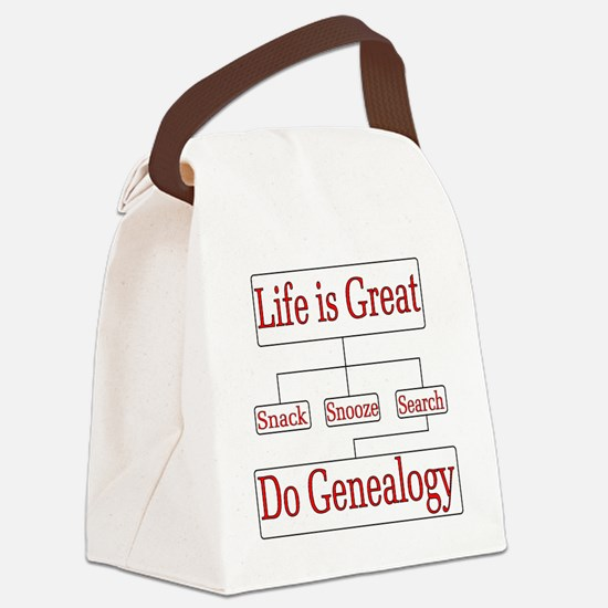 Do Genealogy Chart Canvas Lunch Bag