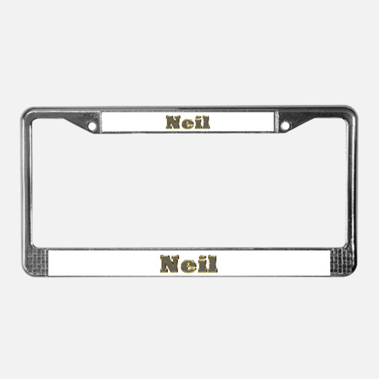 Neil Gold Diamond Bling License Plate Frame