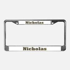 Nicholas Gold Diamond Bling License Plate Frame