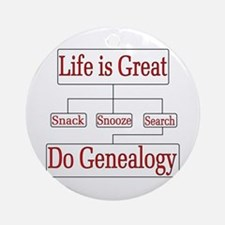 Do Genealogy Chart Ornament (Round)