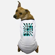 Abstract geometric turquoise Dog T-Shirt
