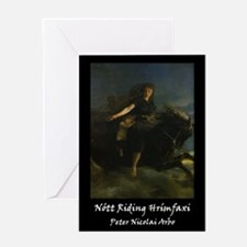 Nott Riding Hrimfaxi Greeting Card