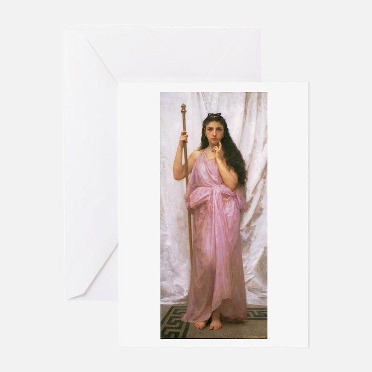 Young Priestess/single Greeting Card