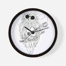 Music owl Wall Clock