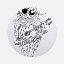 Music owl Ornament (Round)