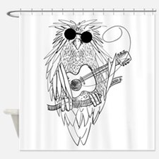 Music owl Shower Curtain