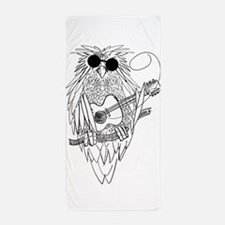 Music owl Beach Towel
