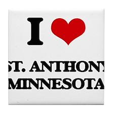 I love St. Anthony Minnesota Tile Coaster