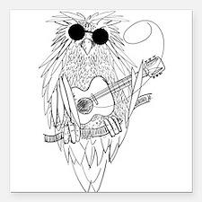 "Music owl Square Car Magnet 3"" x 3"""