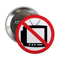 """No TV 2.25"""" Button (10 pack)"""