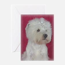 Westie Princess Greeting Card