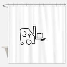 forklift driver of storekeeper camp Shower Curtain