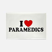 I Love Paramedics Rectangle Magnet