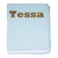 Tessa Gold Diamond Bling baby blanket