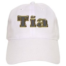 Tia Gold Diamond Bling Baseball Baseball Cap