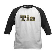 Tia Gold Diamond Bling Baseball Jersey