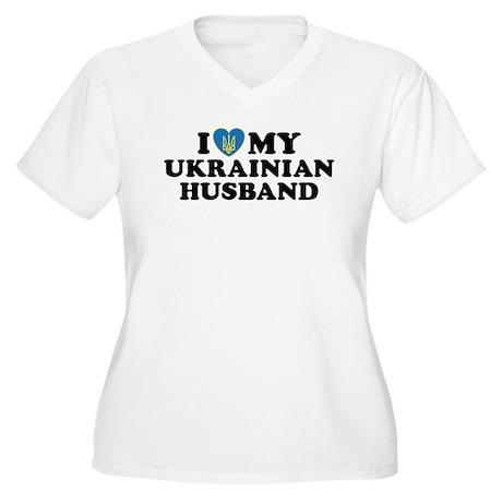 I Love My Ukrainian Husband Women's Plus Size V-Ne