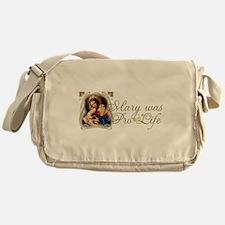 Mary was Pro-Life Messenger Bag