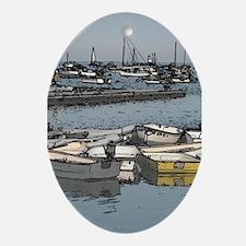 Small Boats Oval Ornament