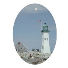 Old Scituate Lighthouse Oval Ornament