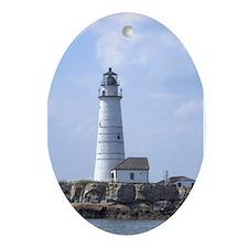 Boston Lighthouse Oval Ornament