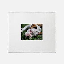 Baby Rufus Grass copy.jpg Throw Blanket