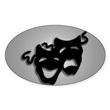 Comedy and Tragedy Theater Design Decal