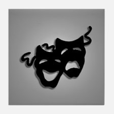 Comedy and Tragedy Theater Design Tile Coaster