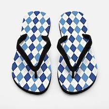 Blue Arglye Flip Flops