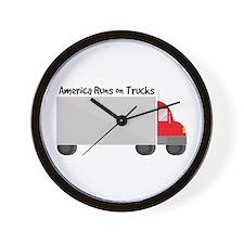 Runs on Trucks Wall Clock