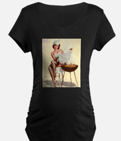 Classic Elvgren 1950s Vintage Pin Up Girl-BBQ Mate