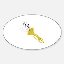 Playing Trumpet Decal