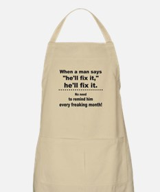 He will fix it Apron
