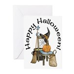 Witches Scene Halloween Cards (Pk of 10)
