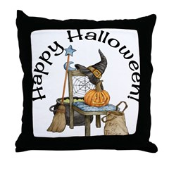 Witches Scene Throw Pillow