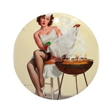 Classic Elvgren 1950s Vintage Pin Up Girl-BBQ Orna