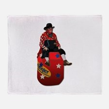 Rodeo Clowns Throw Blanket